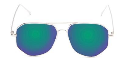 Front of Kendall #63072 in Silver Frame with Green/Purple Mirrored Lenses