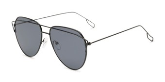 9ad10978a612 Angle of Kennedy #7024 in Black Frame with Grey Lenses, Women's Aviator  Sunglasses
