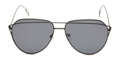 Front of Kennedy #7024 in Black Frame with Grey Lenses