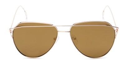 Front of Kennedy #7024 in Gold Frame with Gold Mirrored Lenses