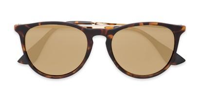 Folded of Kent #54096  in Tortoise Frame with Gold Mirrored Lenses