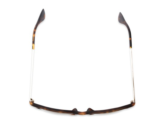 Overhead of Kent #54096  in Tortoise Frame with Gold Mirrored Lenses