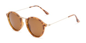 Angle of Legend #16171 in Glossy Tortoise Frame with Amber Lenses, Women's and Men's Round Sunglasses