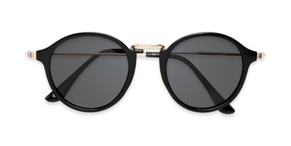 Folded of Legend #16171 in Glossy Black Frame with Grey Lenses