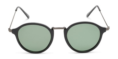 Front of Legend #16171 in Matte Black Frame with Green Lenses