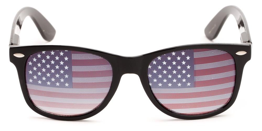 73e66ecb3e American Flag Retro Square Sunglasses