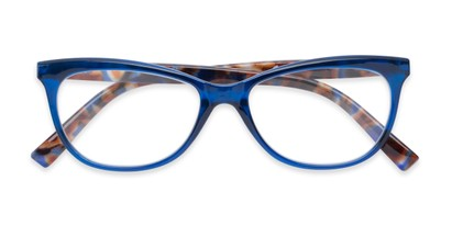 Folded of Liv #3137 in Grey Frame with Blue Mirrored Lenses