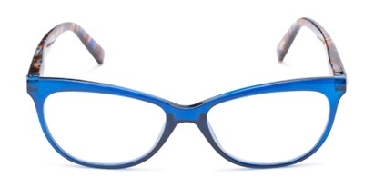 Front of Liv #3137 in Grey Frame with Blue Mirrored Lenses