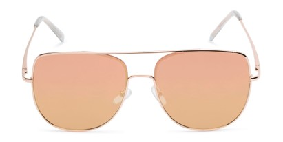 Front of Liv #3137 in Rose Gold Frame with Pink Mirrored Lenses