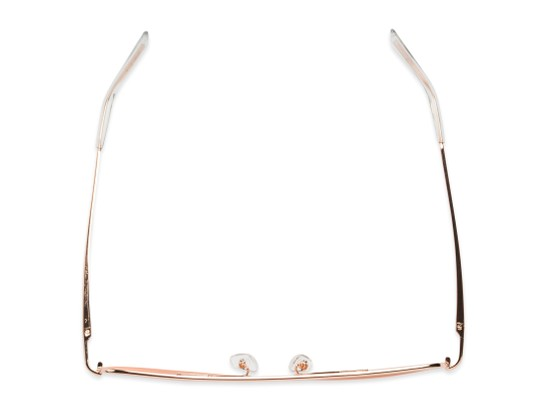 Overhead of Liv #3137 in Rose Gold Frame with Pink Mirrored Lenses