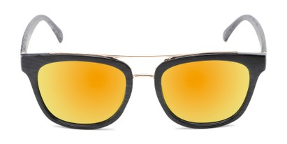 Front of Lodge #50801 in Black/Gold Frame with Yellow Mirrored Lenses