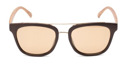 Front of Lodge #50801 in Dark Brown/Gold Frame with Amber Lenses
