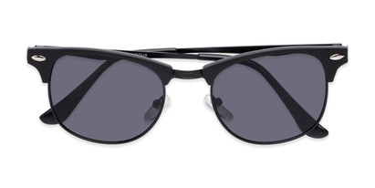 Folded of Logan #6767 in Black Frame with Grey Lenses