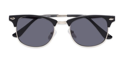 Folded of Logan #6767 in Black/Silver Frame with Grey Lenses