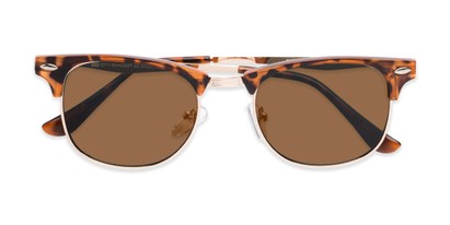 Folded of Logan #6767 in Tortoise/Gold Frame with Amber Lenses