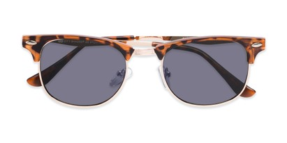 Folded of Logan #6767 in Tortoise/Gold Frame with Grey Lenses