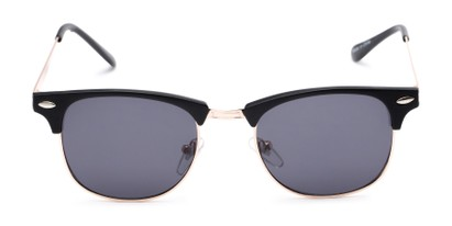 Front of Logan #6767 in Black/Gold Frame with Grey Lenses