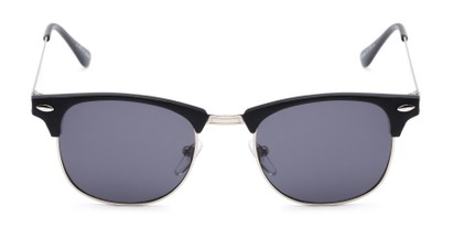 Front of Logan #6767 in Black/Silver Frame with Grey Lenses