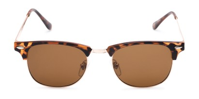 Front of Logan #6767 in Tortoise/Gold Frame with Amber Lenses