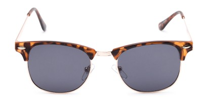 Front of Logan #6767 in Tortoise/Gold Frame with Grey Lenses
