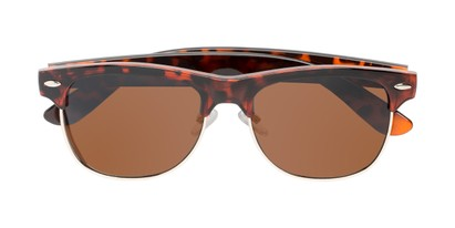 Folded of Loggerhead #8391 in Tortoise/Gold Frame with Amber Lenses