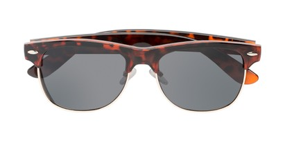 Folded of Loggerhead #8391 in Tortoise/Silver Frame with Grey Lenses