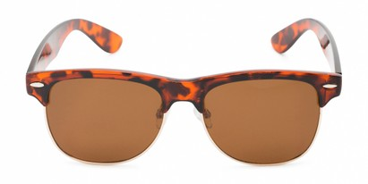 Front of Loggerhead #8391 in Tortoise/Gold Frame with Amber Lenses