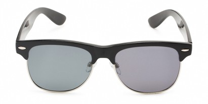 Front of Loggerhead #8391 in Black/Silver Frame with Grey Lenses