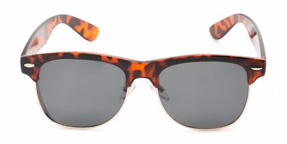 Front of Loggerhead #8391 in Tortoise/Silver Frame with Grey Lenses