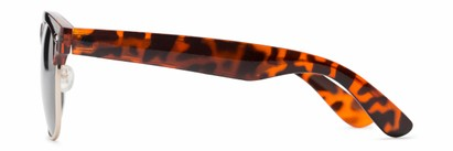Side of Loggerhead #8391 in Tortoise/Silver Frame with Grey Lenses
