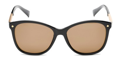 Front of Lorelai #34155 in Black Frame with Amber Lenses