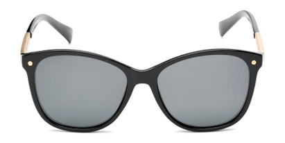 Front of Lorelai #34155 in Black Frame with Smoke Lenses