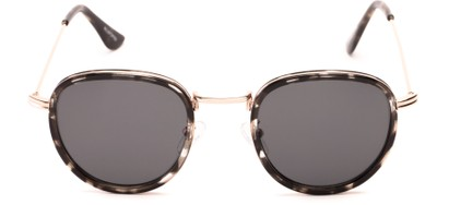 Front of Madeira #2872 in Grey Tortoise/Gold Frame with Smoke Lenses