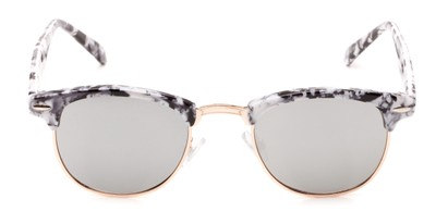 mirrored lens marbled browline shades