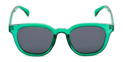 Front of Mac in Clear Green Frame with Grey Lenses