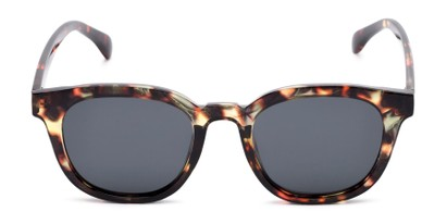 Front of Mac in Tortoise Frame with Grey Lenses