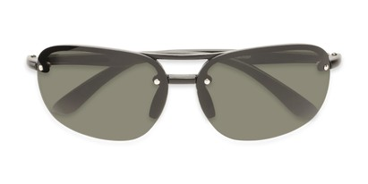 Folded of Madagascar #51571 in Matte Black Frame with Green Lenses