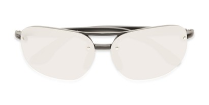 Folded of Madagascar #51571 in Matte Black Frame with Silver Mirrored Lenses