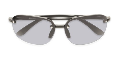 Folded of Madagascar #51571 in Matte Black Frame with Smoke Lenses