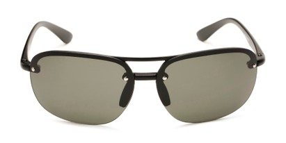 Front of Madagascar #51571 in Matte Black Frame with Green Lenses