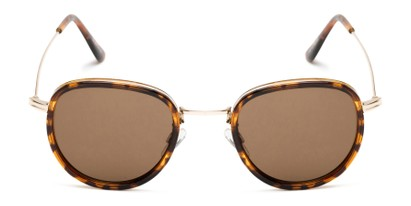 Front of Madeira #2872 in Brown Tortoise/Gold Frame with Amber Lenses