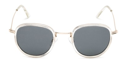 Front of Madeira #2872 in Clear/Gold Frame with Smoke Lenses