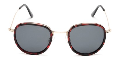 Front of Madeira #2872 in Red Tortoise/Gold Frame with Smoke Lenses