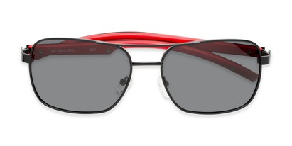 Folded of Manitoba #16287 in Black/Red Frame with Smoke Lenses
