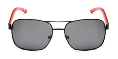 square aviators polarized plastic detail