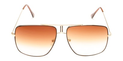 Front of Maple #2124 in Gold/Brown Frame with Amber Gradient Lenses