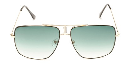 Front of Maple #2124 in Gold/Black Frame with Green Gradient Lenses