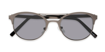 Folded of Marblehead #15731 in Grey Frame with Smoke Lenses