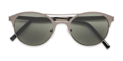 Folded of Marblehead #15731 in Grey Frame with Green Lenses