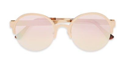 Folded of Margot #3833 in Gold Frame with Pink Mirrored Lenses